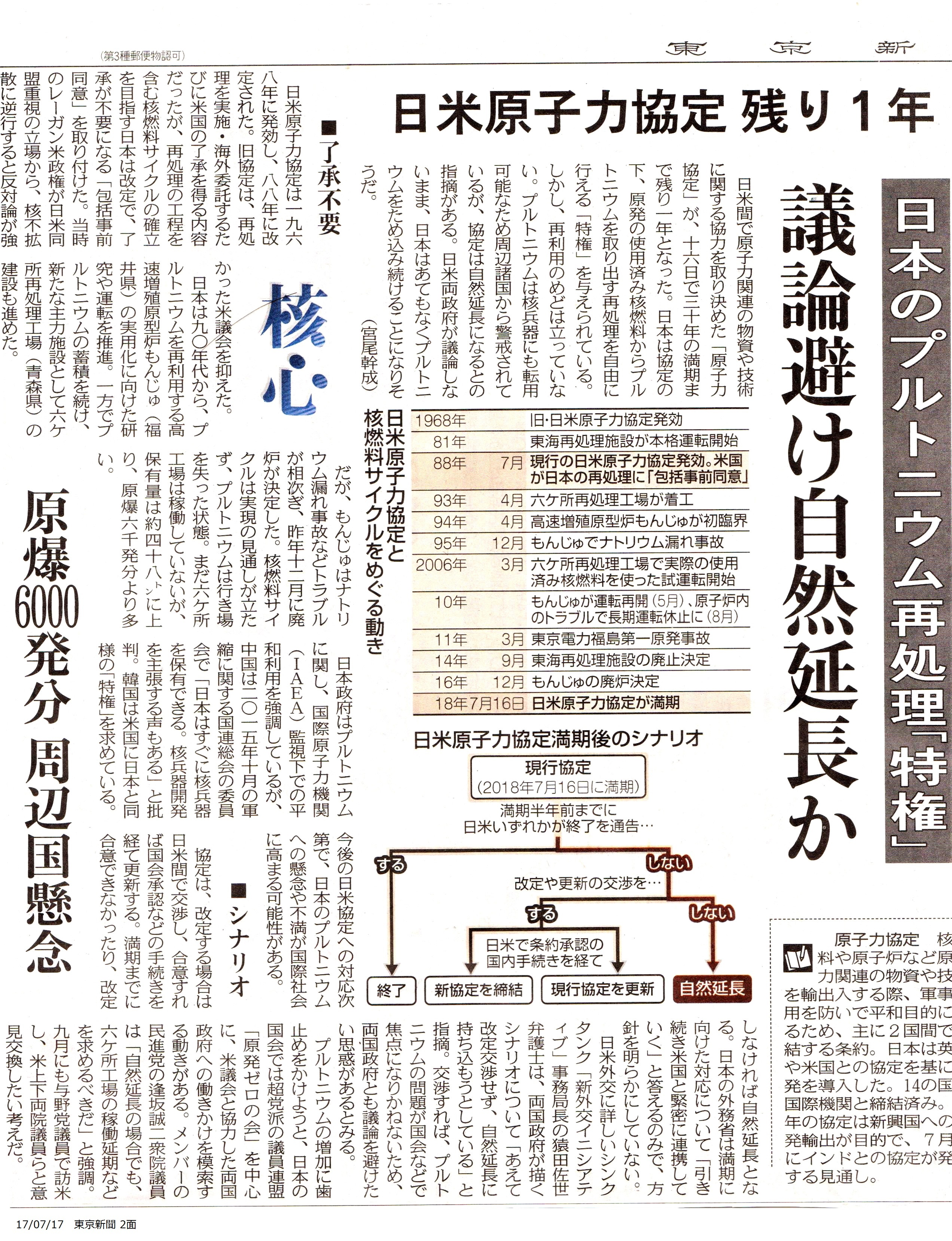 【東京新聞 7/17】